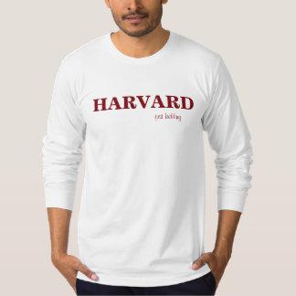 HARVARD just kidding T Shirt Burgundy on White