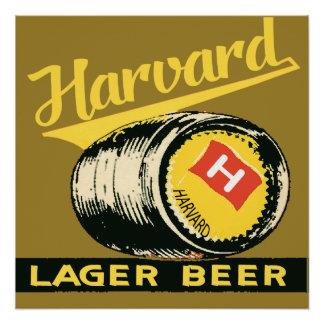 Harvard Lager Beer Poster