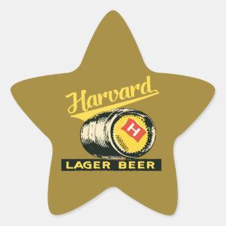 Harvard Lager Beer Star Sticker