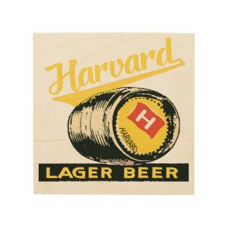 Harvard Lager Beer Wood Print