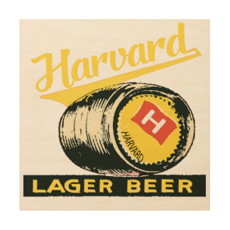 Harvard Lager Beer Wood Wall Art