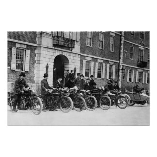 Harvard Motorcycle Squad, early 1900s Poster
