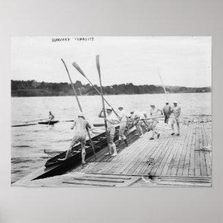Harvard University Rowing Crew Team Photograph Poster