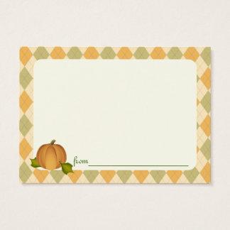 Harves Pumpkin Baby Shower Advice Cards