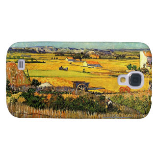 Harvest at La Crau, with Montmajour in the Backgro Galaxy S4 Case