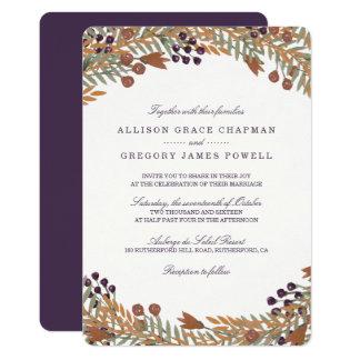 Harvest Berry Wedding Invitation