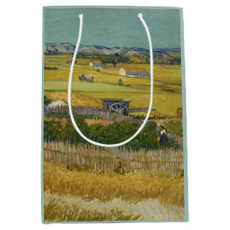 Harvest by Vincent Van Gogh Medium Gift Bag
