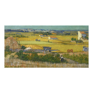 Harvest by Vincent Van Gogh Photo Card Template