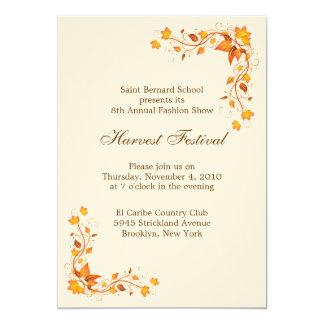 Harvest Festival Invitation Card