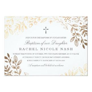 Harvest Flowers Baptism Card
