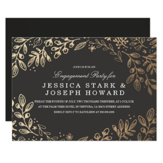 Harvest Flowers Engagement Party Invite