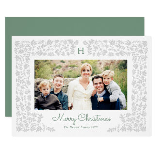 Harvest Flowers Holiday Photo Card
