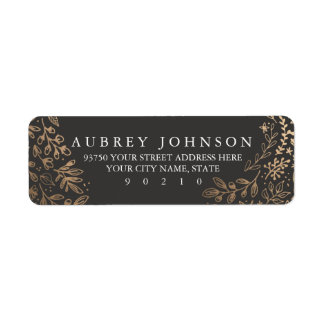 Harvest Flowers Return Address Label
