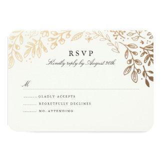 Harvest Flowers RSVP 9 Cm X 13 Cm Invitation Card