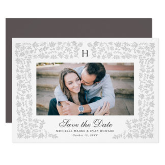 Harvest Flowers Save the Date Card
