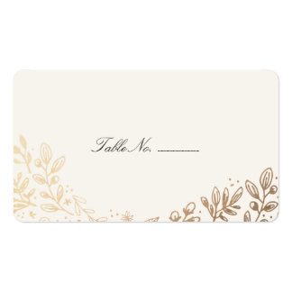 Harvest Flowers Table Place Card Pack Of Standard Business Cards