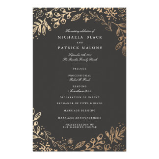Harvest Flowers Wedding Program Flyer