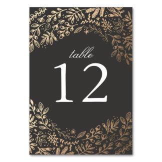 Harvest Flowers Wedding Table Cards