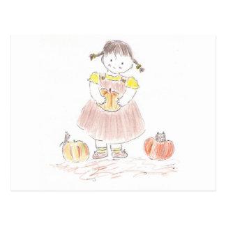 Harvest Girl Postcard