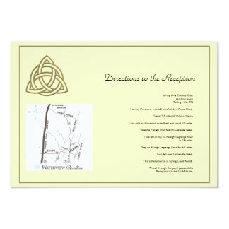 Harvest Gold Celtic Knot Wedding Directions Card
