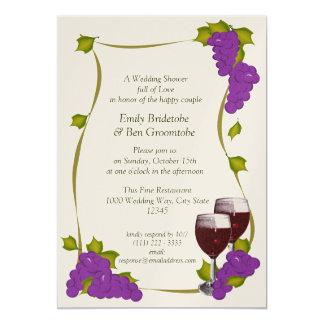 Harvest Grapes Bridal Shower Card
