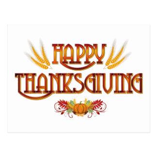 Harvest Happy Thanksgiving Postcard