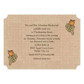 Harvest Horseshoe Thanksgiving Downturned Personalized Invitation