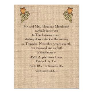 Harvest Horseshoe Thanksgiving Upturned Personalized Invite
