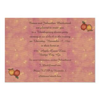 "Harvest Horseshoe Thanksgiving Upturned 5"" X 7"" Invitation Card"