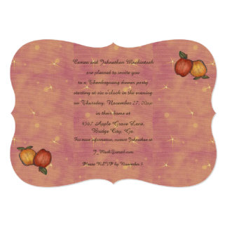 Harvest Horseshoe Thanksgiving Upturned Invitation