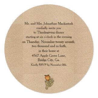Harvest Horseshoe Thanksgiving Upturned Custom Invitation