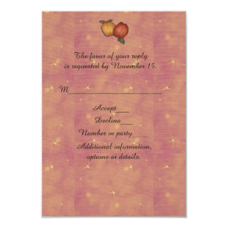 "Harvest Horseshoe Thanksgiving Upturned 3.5"" X 5"" Invitation Card"