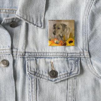 Harvest Labrador Retriever 15 Cm Square Badge