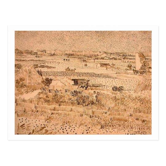 Harvest Landscape, Vincent van Gogh Postcard