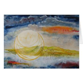 """""""Harvest Moon"""" Note Card"""
