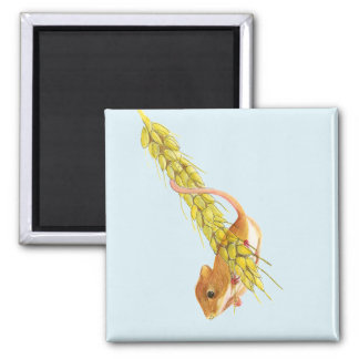 Harvest Mouse Watercolour Painting Artwork Gifts Magnet