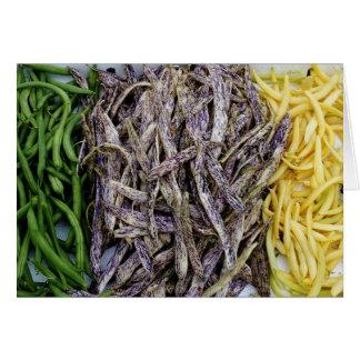 Harvest Of Beans Vegetable Card