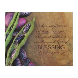 """Harvest Of Blessing Wood Print 10x8"""""""