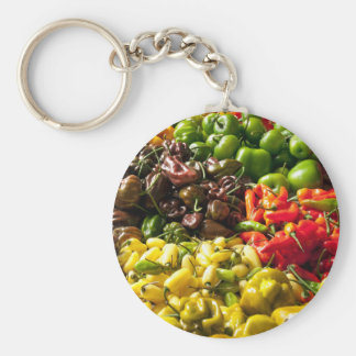 Harvest of Chilies Key Ring