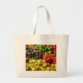 Harvest of Chilies Large Tote Bag
