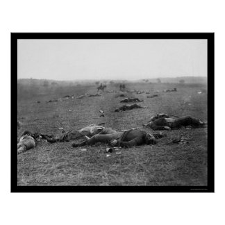 Harvest of Death at Gettysburg, PA 1863 Poster