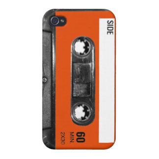 Harvest Orange Label Cassette iPhone 4/4S Cases