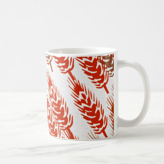 harvest pattern with wheat coffee mug