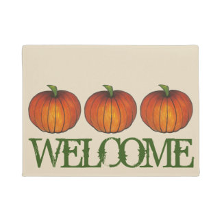 Harvest Pumpkin Autumn Fall Halloween Thanksgiving Doormat