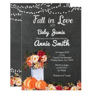 Harvest pumpkin bridal shower invitation