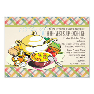 Harvest Soup Exchange Invitation