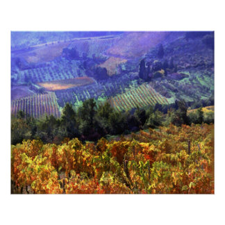 Harvest Time at the Vineyard Poster