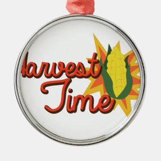 Harvest Time Corn Metal Ornament
