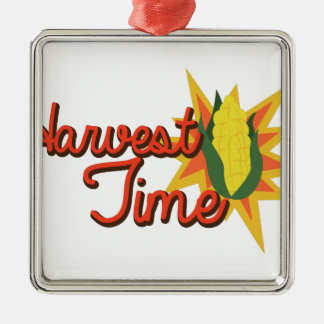 Harvest Time Corn Metal Ornament