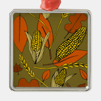 harvest time metal ornament